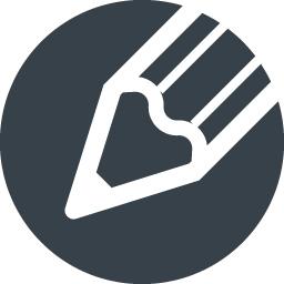 丸枠付きの鉛筆のアイコン素材 10 商用可の無料 フリー のアイコン素材をダウンロードできるサイト Icon Rainbow