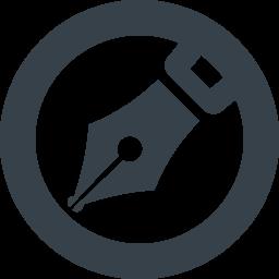 丸枠付きの万年筆のペン先アイコン素材 5 商用可の無料 フリー のアイコン素材をダウンロードできるサイト Icon Rainbow