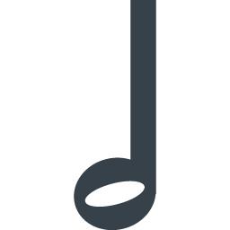 二分音符のアイコン素材 商用可の無料 フリー のアイコン素材をダウンロードできるサイト Icon Rainbow
