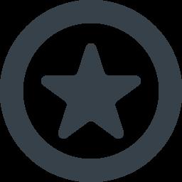 丸枠付きの星のアイコン素材 1 商用可の無料 フリー のアイコン素材をダウンロードできるサイト Icon Rainbow