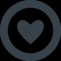 丸枠付きのハートのアイコン素材 商用可の無料 フリー のアイコン素材をダウンロードできるサイト Icon Rainbow