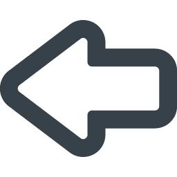 線の矢印アイコン素材 左向き 商用可の無料 フリー のアイコン素材をダウンロードできるサイト Icon Rainbow