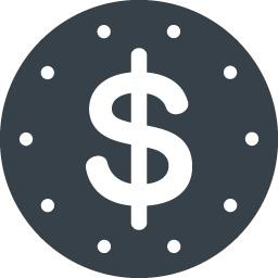 丸枠付きのドルのアイコン素材 2 商用可の無料 フリー のアイコン素材をダウンロードできるサイト Icon Rainbow