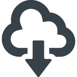 クラウドのダウンロードのアイコン素材 商用可の無料 フリー のアイコン素材をダウンロードできるサイト Icon Rainbow