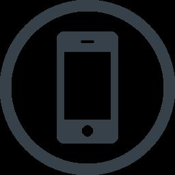 丸枠付きのスマートフォンのアイコン素材 1 商用可の無料 フリー のアイコン素材をダウンロードできるサイト Icon Rainbow