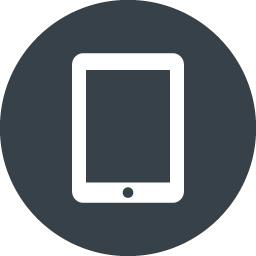 丸枠付きのタブレットのアイコン素材 2 商用可の無料 フリー のアイコン素材をダウンロードできるサイト Icon Rainbow