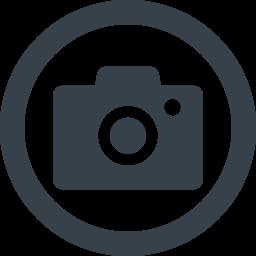 丸枠付きのカメラのアイコン素材 1 商用可の無料 フリー のアイコン素材をダウンロードできるサイト Icon Rainbow