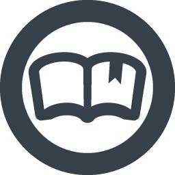 丸枠付きの本のアイコン素材 2 商用可の無料 フリー のアイコン素材をダウンロードできるサイト Icon Rainbow