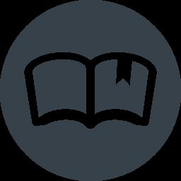 丸枠付きの本のイラストアイコン素材 3 商用可の無料 フリー のアイコン素材をダウンロードできるサイト Icon Rainbow