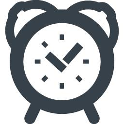 目覚まし時計のイラストアイコン素材 1 商用可の無料 フリー のアイコン素材をダウンロードできるサイト Icon Rainbow
