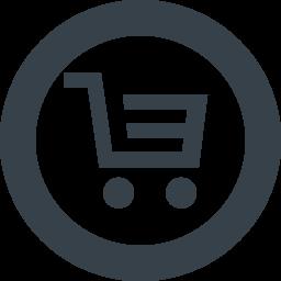 丸枠付きのショッピングカートのアイコン素材 1 商用可の無料 フリー のアイコン素材をダウンロードできるサイト Icon Rainbow