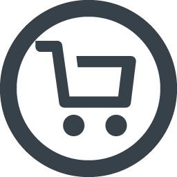 丸枠付きのショッピングカートのアイコン素材 2 商用可の無料 フリー のアイコン素材をダウンロードできるサイト Icon Rainbow