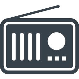ラジオのイラストアイコン素材 2 商用可の無料 フリー のアイコン素材をダウンロードできるサイト Icon Rainbow