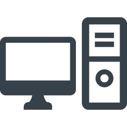 デスクトップpc モニタのアイコン素材 商用可の無料 フリー のアイコン素材をダウンロードできるサイト Icon Rainbow