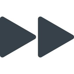 無料でダウンロードできる動画や音楽の早送りボタンのアイコン素材 商用可の無料 フリー のアイコン素材をダウンロードできるサイト Icon Rainbow