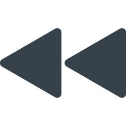 動画や音楽の巻き戻しボタンのアイコン素材 商用可の無料 フリー のアイコン素材をダウンロードできるサイト Icon Rainbow