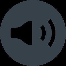丸枠付き音声マークのアイコン素材 商用可の無料 フリー のアイコン素材をダウンロードできるサイト Icon Rainbow