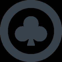 丸枠付きのクローバーのアイコン素材 1 商用可の無料 フリー のアイコン素材をダウンロードできるサイト Icon Rainbow