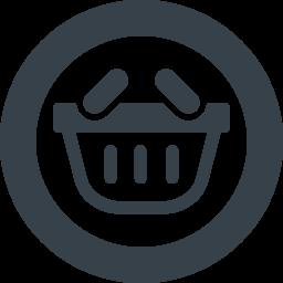 丸枠付き手持ちの買物かごのイラストアイコン素材 1 商用可の無料 フリー のアイコン素材をダウンロードできるサイト Icon Rainbow