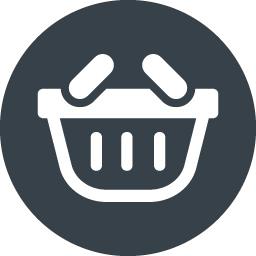 丸枠付き手持ちの買物かごのイラストアイコン素材 2 商用可の無料 フリー のアイコン素材をダウンロードできるサイト Icon Rainbow