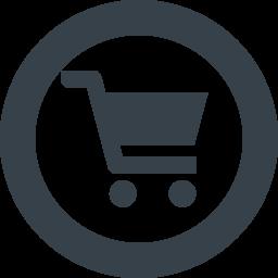 丸枠付きショッピングカートのアイコン素材 5 商用可の無料 フリー のアイコン素材をダウンロードできるサイト Icon Rainbow