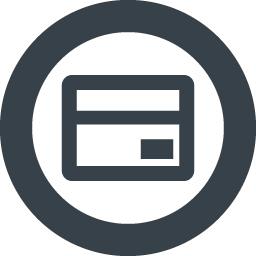 丸枠付きのクレジットカードのアイコン素材 1 商用可の無料 フリー のアイコン素材をダウンロードできるサイト Icon Rainbow