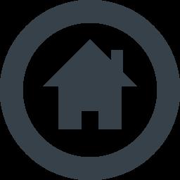 丸枠付きの家のアイコン素材 1 商用可の無料 フリー のアイコン素材をダウンロードできるサイト Icon Rainbow