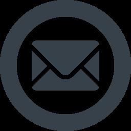 丸枠付きのメールのアイコン素材 1 商用可の無料 フリー のアイコン素材をダウンロードできるサイト Icon Rainbow