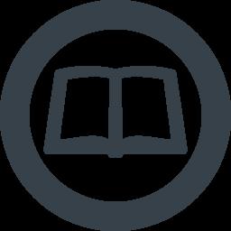 丸枠付きの本 ノートのアイコン素材 1 商用可の無料 フリー のアイコン素材をダウンロードできるサイト Icon Rainbow