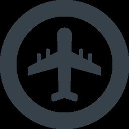 丸枠付きの飛行機のアイコン素材 3 商用可の無料 フリー のアイコン素材をダウンロードできるサイト Icon Rainbow