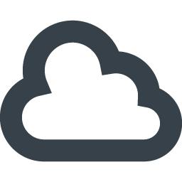 無料でダウンロードできる雲のアイコン素材 3 商用可の無料 フリー のアイコン素材をダウンロードできるサイト Icon Rainbow