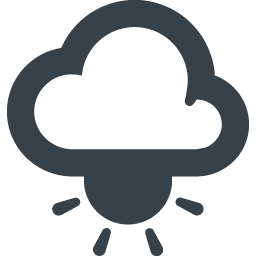 雲の下の太陽のアイコン素材 商用可の無料 フリー のアイコン素材をダウンロードできるサイト Icon Rainbow