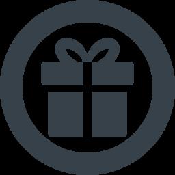 丸枠つきのプレゼントボックスのアイコン素材 1 商用可の無料 フリー のアイコン素材をダウンロードできるサイト Icon Rainbow