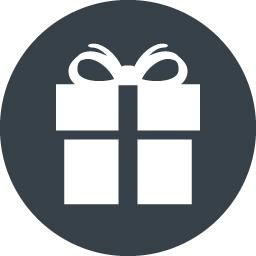 丸枠つきのプレゼントボックスのアイコン素材 4 商用可の無料 フリー のアイコン素材をダウンロードできるサイト Icon Rainbow