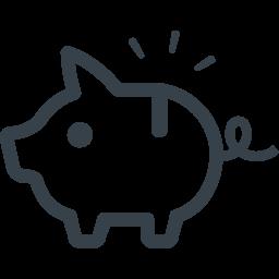 ブタの貯金箱のイラストアイコン素材 1 商用可の無料 フリー のアイコン素材をダウンロードできるサイト Icon Rainbow