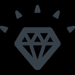 ダイヤモンドのアイコン素材 2 商用可の無料 フリー のアイコン素材をダウンロードできるサイト Icon Rainbow