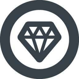 丸枠付きのダイヤモンドのアイコン素材 1 商用可の無料 フリー のアイコン素材をダウンロードできるサイト Icon Rainbow
