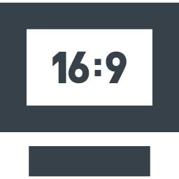 16 9のテレビモニタのアイコン素材 1 商用可の無料 フリー のアイコン素材をダウンロードできるサイト Icon Rainbow