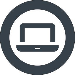 丸枠付きのノートpcアイコン 3 商用可の無料 フリー のアイコン素材をダウンロードできるサイト Icon Rainbow