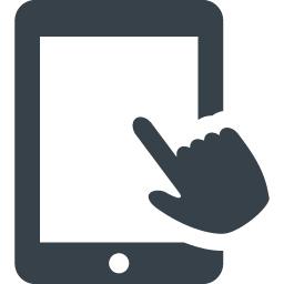 タブレットと指のアイコン素材 商用可の無料 フリー のアイコン素材をダウンロードできるサイト Icon Rainbow