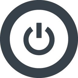 丸枠付きのpc電源のアイコン素材 1 商用可の無料 フリー のアイコン素材をダウンロードできるサイト Icon Rainbow