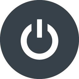 丸枠付きのpc電源のアイコン素材 2 商用可の無料 フリー のアイコン素材をダウンロードできるサイト Icon Rainbow