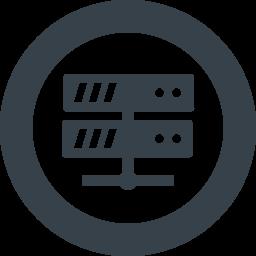 丸枠付きのサーバーのアイコン素材 1 商用可の無料 フリー のアイコン素材をダウンロードできるサイト Icon Rainbow