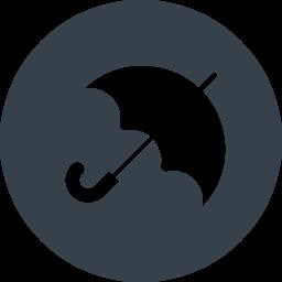 丸枠付きの傘のアイコン素材 2 商用可の無料 フリー のアイコン素材をダウンロードできるサイト Icon Rainbow