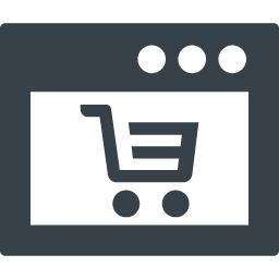 カートのマーク付きのブラウザアイコン素材 商用可の無料 フリー のアイコン素材をダウンロードできるサイト Icon Rainbow