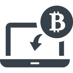 ビットコインとpcのアイコン素材 商用可の無料 フリー のアイコン素材をダウンロードできるサイト Icon Rainbow