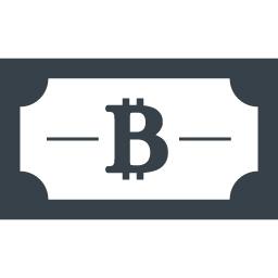 商用利用可能なビットコインの紙幣アイコン 商用可の無料 フリー のアイコン素材をダウンロードできるサイト Icon Rainbow