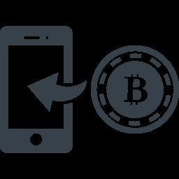 ビットコインとスマートフォンのアイコン素材 商用可の無料 フリー のアイコン素材をダウンロードできるサイト Icon Rainbow