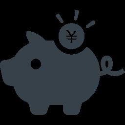 ブタの貯金箱のイラストアイコン素材 7 商用可の無料 フリー のアイコン素材をダウンロードできるサイト Icon Rainbow