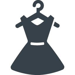 ハンガー付きのドレスのイラストアイコン素材 商用可の無料 フリー のアイコン素材をダウンロードできるサイト Icon Rainbow